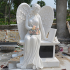 Packaging Customization Cheap Tombstone Cheap Hand Carving Polished Marble Tombstone Sleeping Weeping Angel Statue