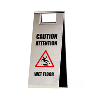 Stainless steel safety warning sign