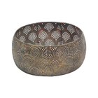 Round Shape [ Tealight Holder ] Tealight Holder CH-32160R-S Vintage And Artificial Round Metal Tealight Candle Stick Holder