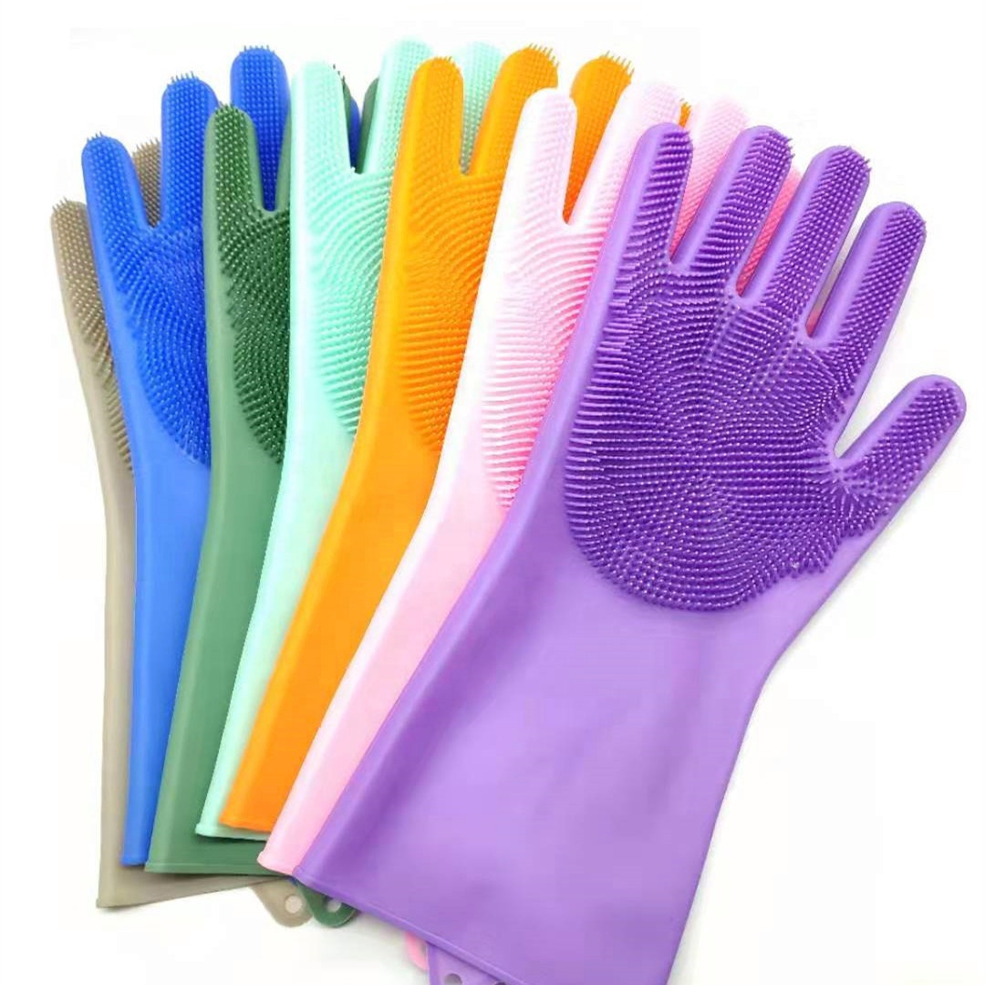 Platinum Silicone <strong>Glove</strong> with Bristle Magic Dishwashing <strong>Gloves</strong> Fancy Silicone Dishwasher <strong>Glove</strong> Scrubber