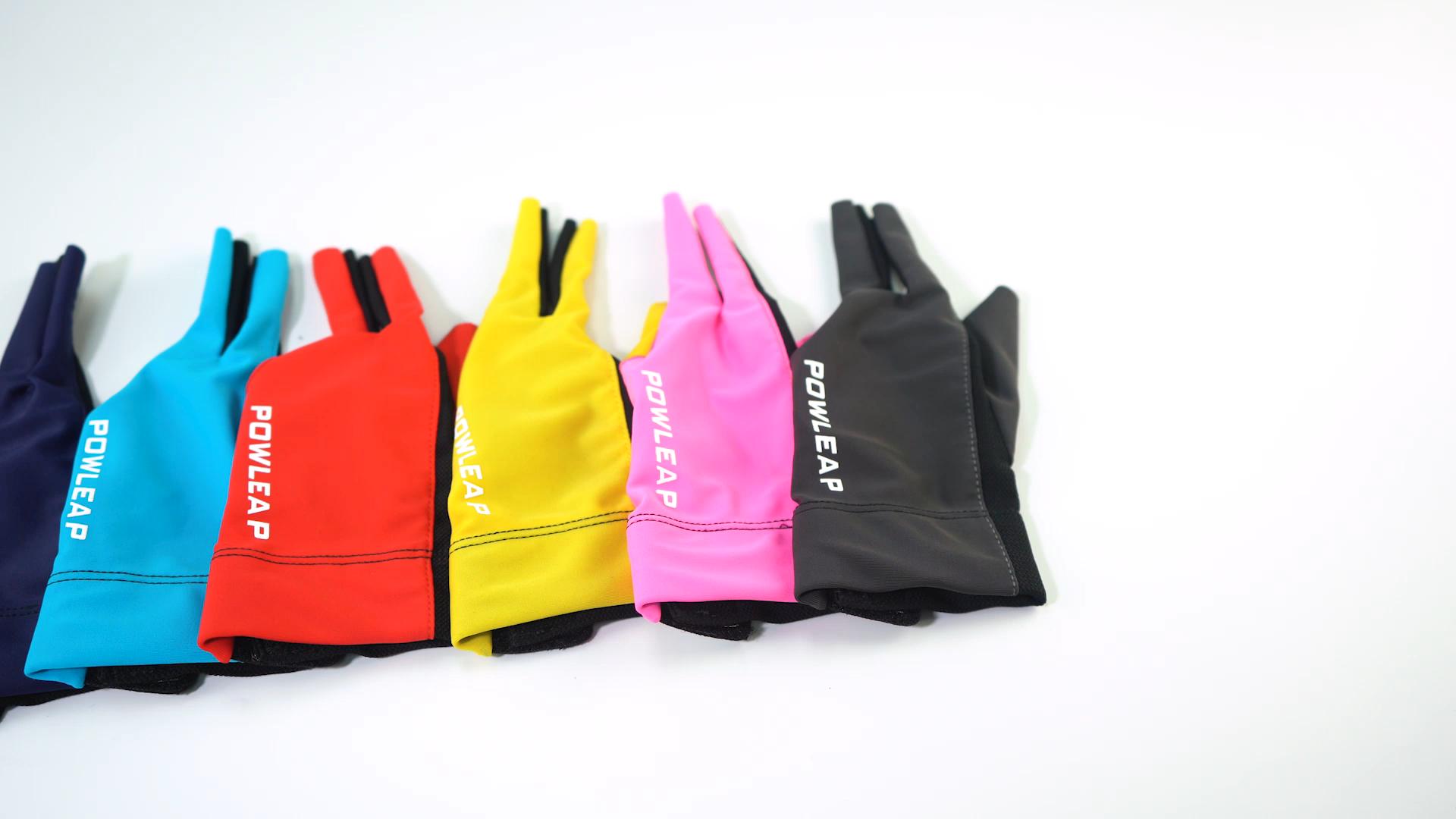 ขายส่งราคาถูกซ้ายHanded Pool Cue ShootersถุงมือCustom 3 นิ้วSpandexบิลเลียดสนุ๊กเกอร์ถุงมือสำหรับผู้เล่นสระว่ายน้ำ