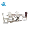 Modern Stainless Steel Marble Dining Table Set For Dining Room