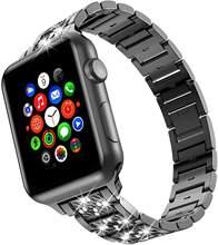 Ремешок со стразами для apple watch 38 мм 42 мм iwatch serice 6 5 4 браслет из нержавеющей стали ремешок 42 мм 3 2 1apple watch ремешок 38 мм(Китай)
