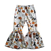 Hot September Offer Baby Flare Leggings Children Aging 0-12 Years Girls Pants Halloween Style Kids Bottoms