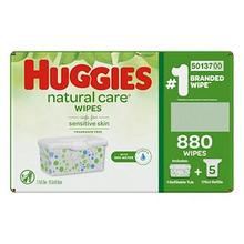 Fragrance-Free Baby Wipes Huggies Cuidados Naturais A Granel Pack Case 880 ct