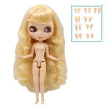 Ледяная фабрика Blyth кукла шарнир тело с руками глянцевое лицо с большой грудью различные цвета волос натуральная кожа 30 см 1/6 игрушка подаро...(Китай)