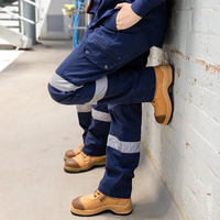 Custom reflective cargo canvas womens work pants