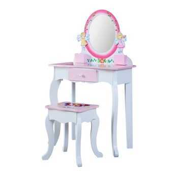 Wooden Makeup Dresser Furniture Girls Mirrored Dressing Table For kids