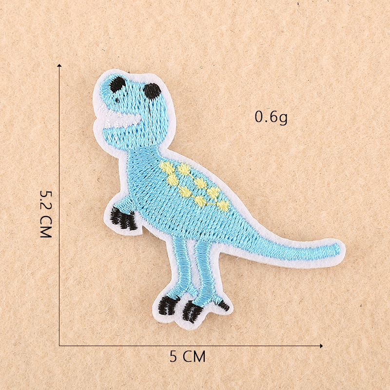 GUGUTREE one set embroidery animal patch cartoon patches badges applique patches for clothing DK-21