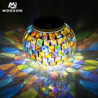 Mosaic Crystal Glass Globe Ball Desk Lamp Vase Bar Party Indoor Color Change Christmas Decorations Baby Gift Solar LED Light