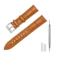 MEGALITH ремешок для часов 16 мм, 18 мм, 20 мм, 22 мм, коричневый ремешок из натуральной кожи, аксессуары для мужчин и женщин, браслет, подходит для все...(Китай)