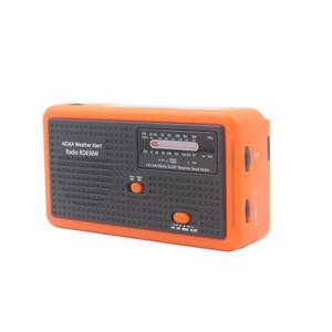 Portable Emergency Weather Radio Hand Crank Self Powered Solar AM/FM/NOAA Solar Radios With Torch & Alert