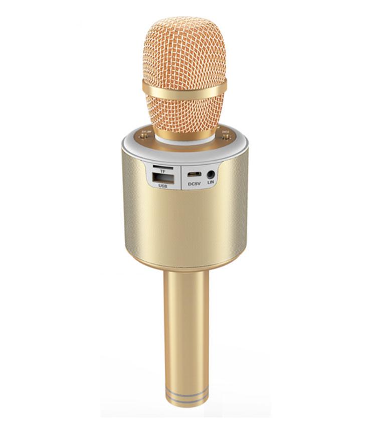 Gainstrong 1200mAh handheld karaoke microphone for kids support karaoke microphones with lights and kids wireless karaoke microp