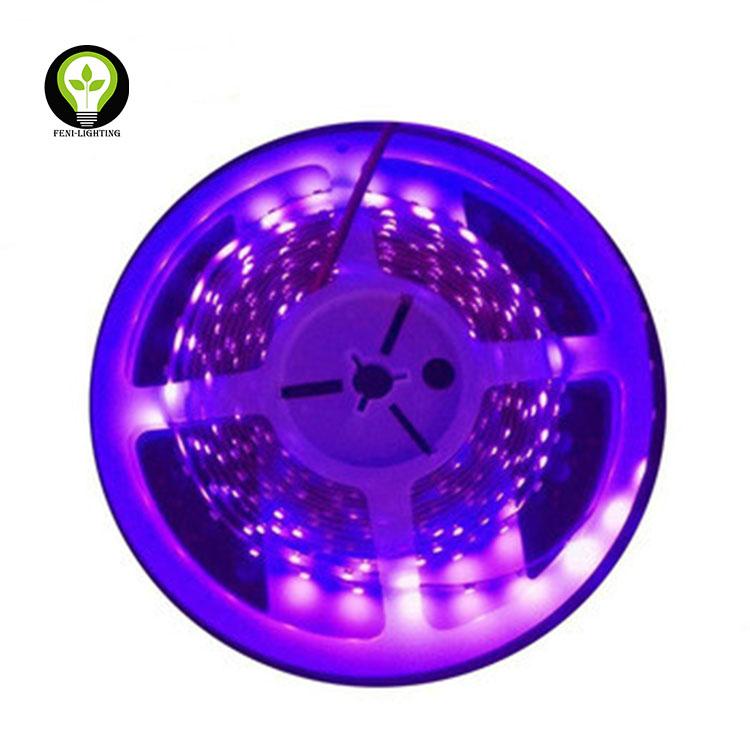 Hot Sale DC12V/DC24V /DC5V UV LED strip Purple Flexible Ultraviolet Backlight