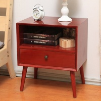 High quality modern design wooden storage cabinet with drawer