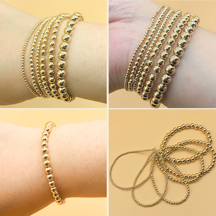 Good Quality Round Spacer Beads Wholesale For Jewelry Making 14K Gold Filled Beads