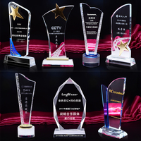 Individual Name Engraving Souvenir Gifts Pujiang Factory Wholesale Custom Crystal Trophy