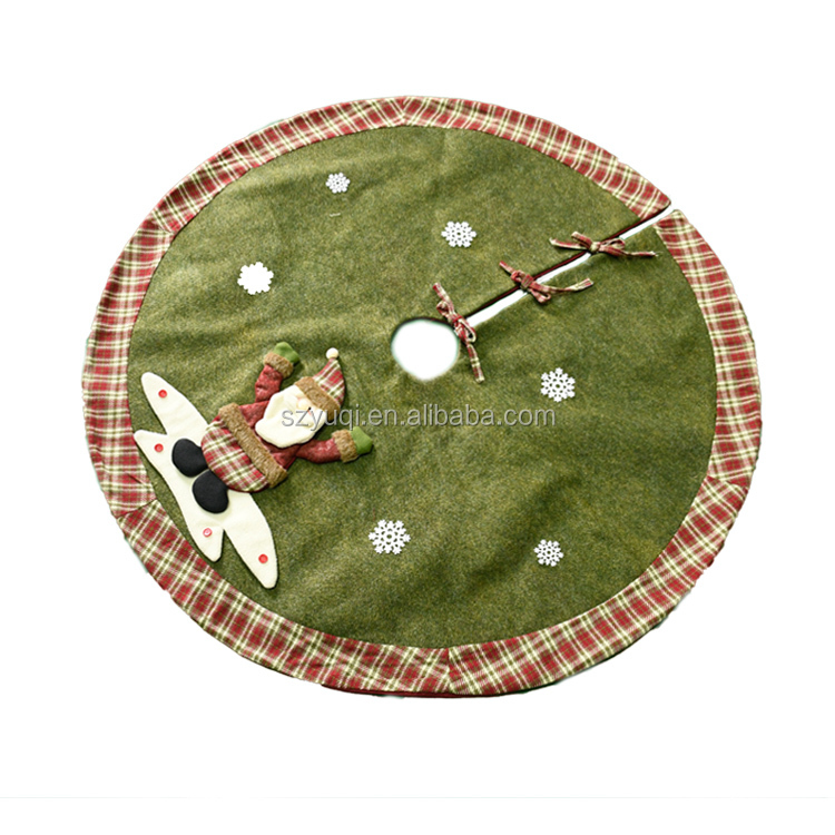 2020 new arrivals elk shape 48 inch custom christmas tree skirt