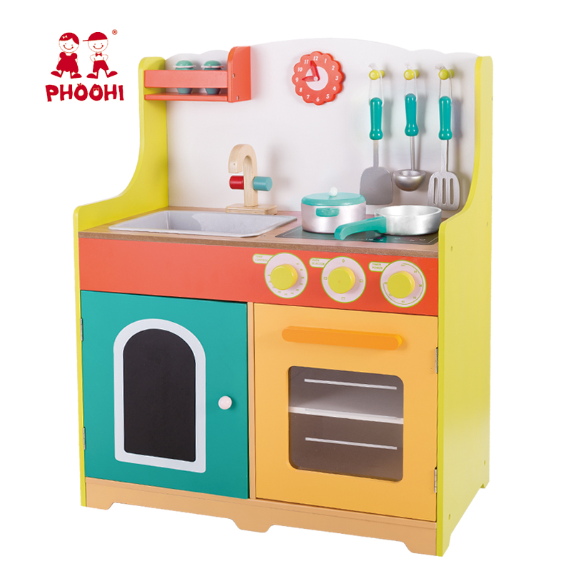 Cooking Set Children Wooden Kitchen Toy