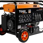 Generator Electric Portable Gas Generator With Electric Start 8000 Peak Watts CARB Compliant Backup Home Use RV Camping Generator With Rain Cover