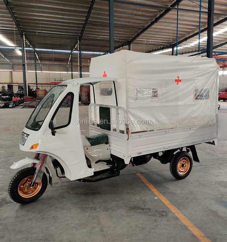 Hospital emergency 150cc 200cc ambulance tricycle