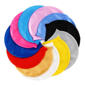 Sedex audit Factory waterproof Eco-friendly material pure color silicone swim cap for  women