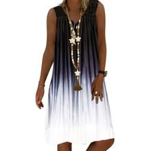 Женское свободное платье с цветочным принтом VICABO, Повседневное платье с v-образным вырезом, летний сарафан(Китай)
