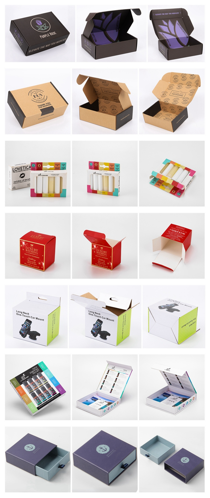 colorful folding mailer box strong big small fashion clothes shipping corrugated box with custom logo printed