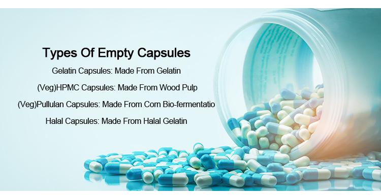 Taille 0 Pharmaceutique Capsules De Gélatine Vides