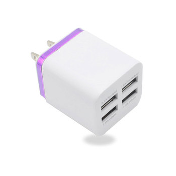 2020 New For iPhone Charger 5V 2.1A Universal Wall Charger US 4 USB Mobile Phones Charger