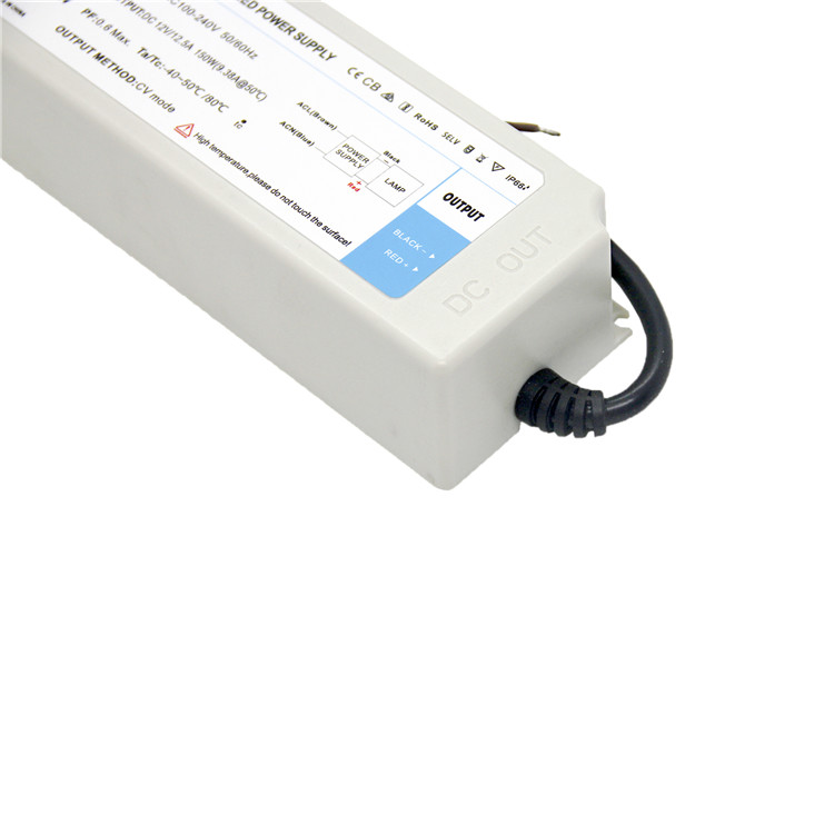 waterproof ip66 led driver constant voltage power supply 150w for advertising lamp