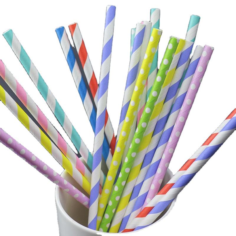 Biodegradabile All'ingrosso Logo Personalizzato di Carta Potabile Ventosa Paglia di vendita Calda prodotti