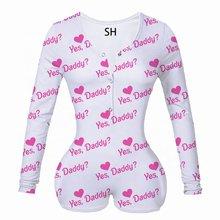 Сексуальная женская летняя цельная Пижама, ночное белье с длинным рукавом, пижамы, пижамы, ночное белье, комбинезон, комбинезон(Китай)