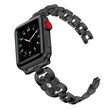 Женский браслет с бриллиантами для apple watch 38 мм 42 мм iwatch ремешок 44 мм 42 мм из нержавеющей стали для iwatch услуги 6/5/4/3/2/1(Китай)
