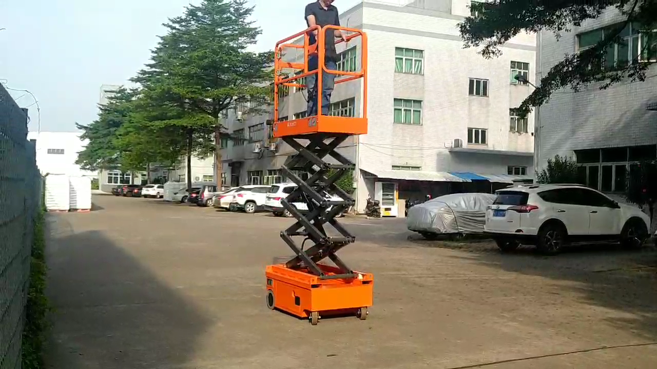 Fully Electric Mini Scissor Lift Hydraulic Self Propelled Printing Work Platform