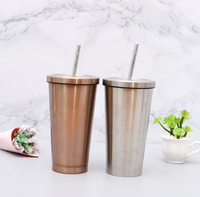 High quality custom outdoor portable coffee cup metal stainless steel 304 straw mug