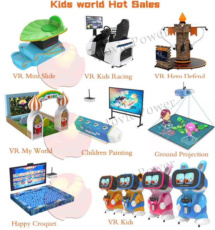 New Business Ideas Kids indoor playground 7d Hologram Projector For Shopping Mall Earn Money