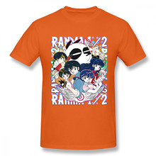Мужская футболка с принтом Ranma, винтажная хлопковая Футболка с графическим принтом, 1/2 дюйма, с аниме-принтом, для мужчин(Китай)
