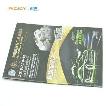 44 pages customized sized saddle stitch exhibition booklet