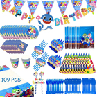 Party Decoration Party Cutlery Paper Cup Paper Tray Theme Baby Birthday Party Decoration Set