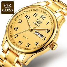 OLEVS оригинальные женские часы из натуральной кожи, водонепроницаемые, модные, благородные, элегантные, ремешок из нержавеющей стали, подарк...(Китай)