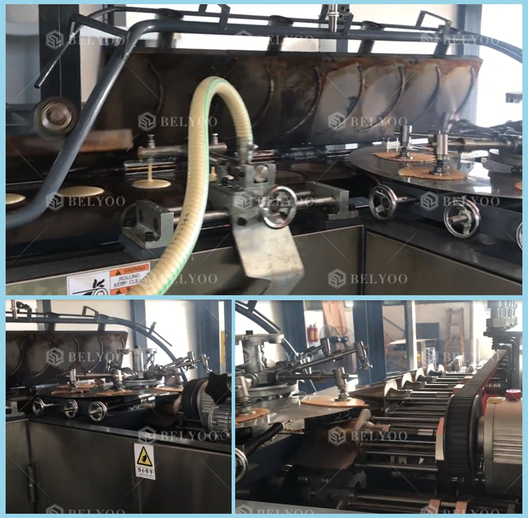 Sugar chocolate-coated double cone vanilla cone manufacture for ice cream cone production line