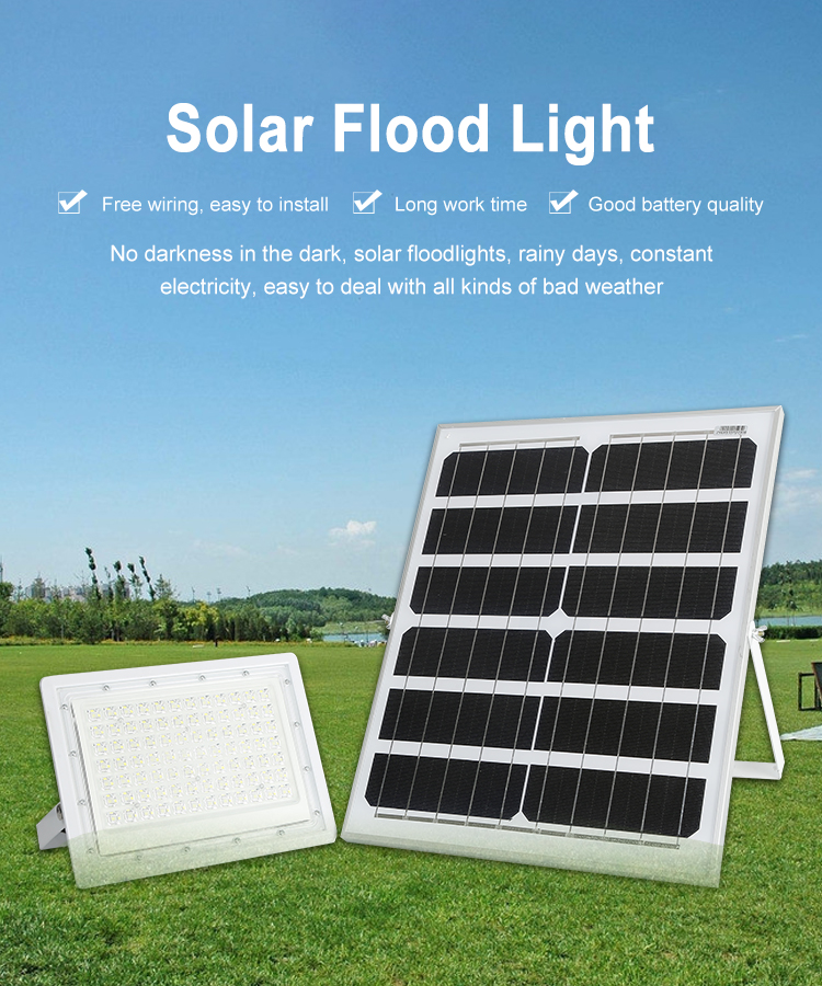 Waterproof ip65 Aluminum material smd outdoor 60w 150w 200w solar flood light