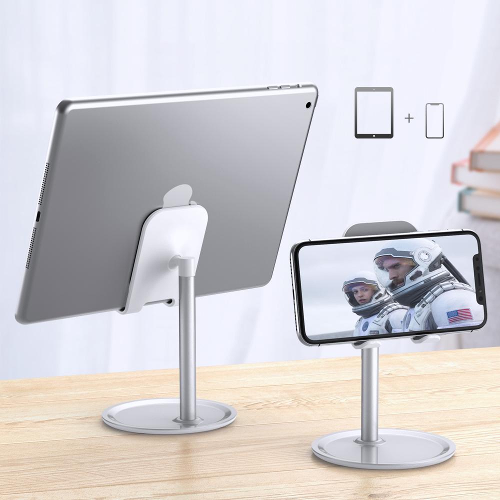 Бесплатная доставка FLOVEME Универсальный Противоскользящий регулируемый держатель для сотового телефона Подставка для стола ленивый держатель для телефона Алюминиевый сплав Подставка для планшета