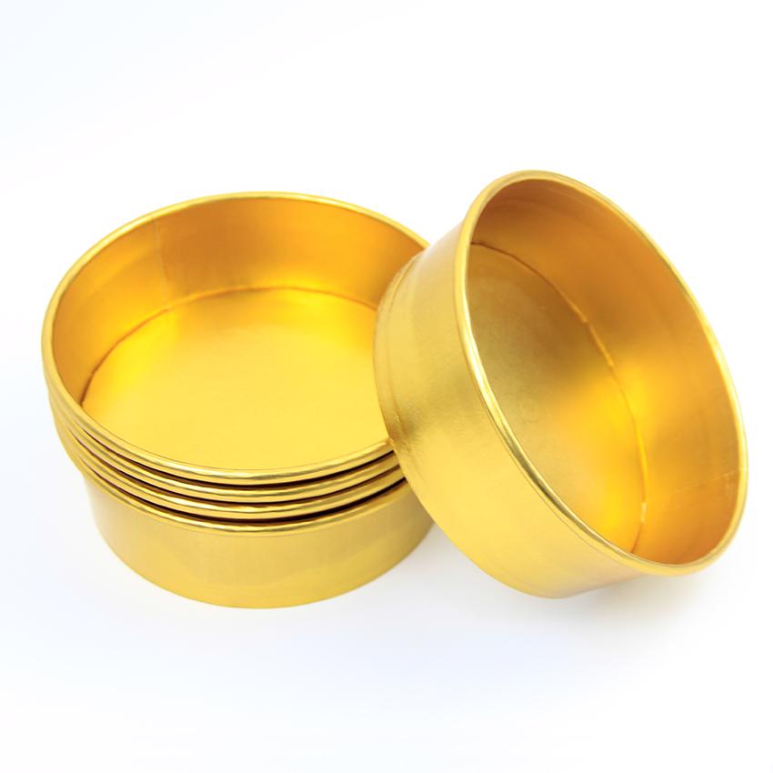 Tirar a comida de ouro folha de alumínio material de embalagem Descartável saladeira recipiente salada tigela com tampa de papel