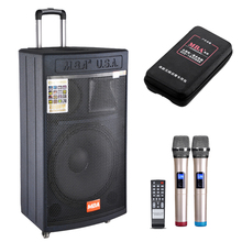 "MBA Profesional Audio 350W 15 ""Inci Kayu Aktif Speaker Sound Sistem Power Amplifier Speaker Nirkabel Charger Clock Speaker"