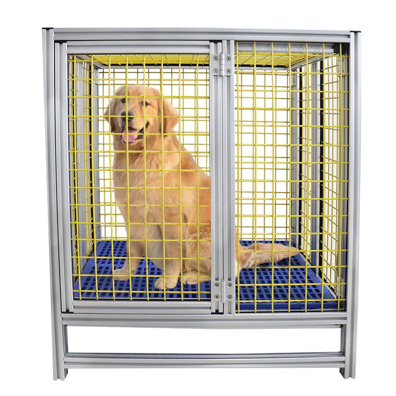 निर्माता फोल्डेबल थोक एल्यूमीनियम धातु बड़े वाहक सस्ते पालतू कुत्ते पिंजरे केनेल