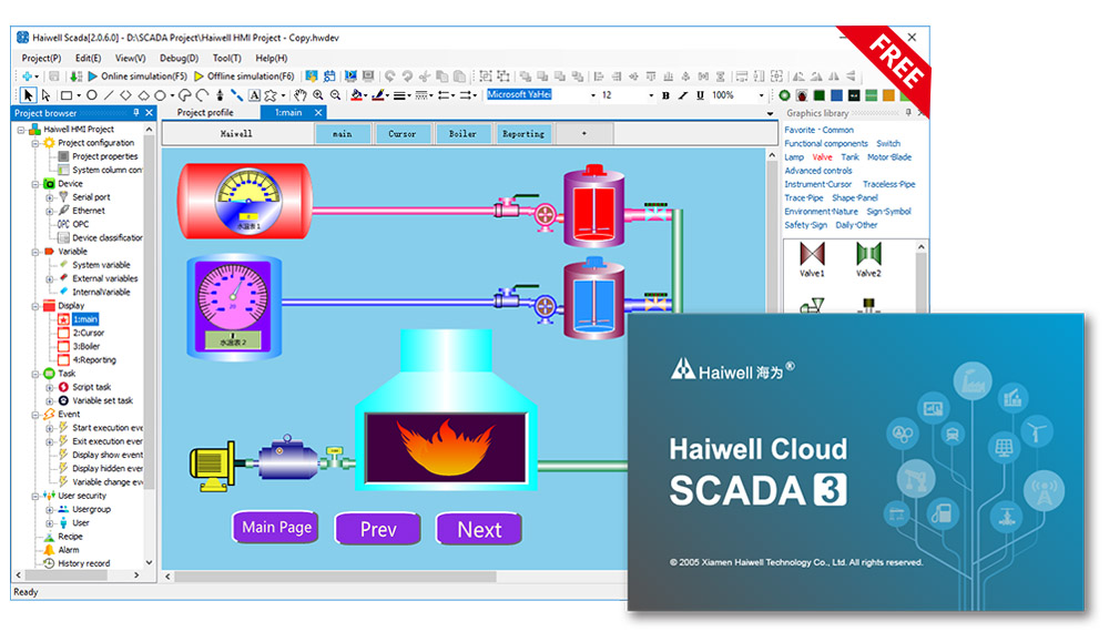 Haiwell Cloud SCADA unlimited Infinite points original automation HMI with MQTT software