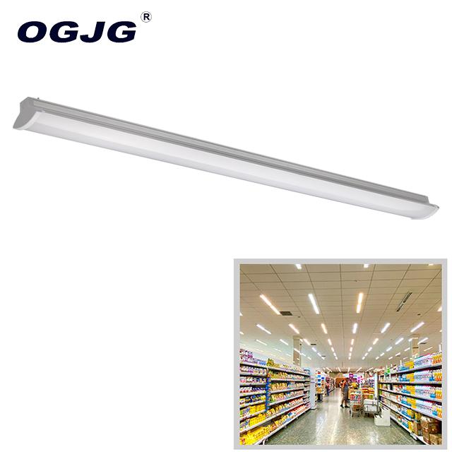 Hot sale office 100-277V suspended led batten fitting industrial dimmable ceiling tube light