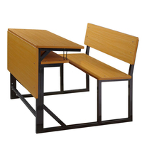University school desk with bench high quality modern school furniture desk set in classroom